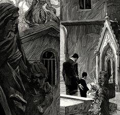 Black & White illustrations by Nico Delort