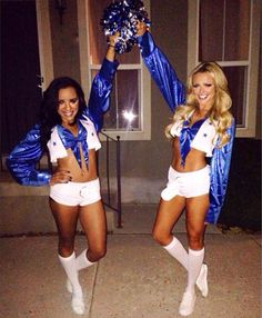 Halloween costume cheerleaders