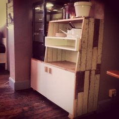 Cabinet made from scrapwood. Made by Herman ypma