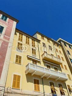 Camogli-Genoa-Typical Home Architecture North Italy © bluedarkat