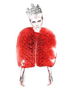Junya Watanabe fashion illustration by António Soares