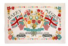 Prince Harry and Meghan Souvenir Cotton Tea Towel.