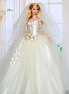 crochet barbie doll clothes for beginners Barbie Bridal, Barbie Wedding Dress, Wedding Doll, Barbie Gowns, Barbie Dress, Bridal Dresses, Barbie Doll, Barbie Clothes Patterns, Doll Clothes