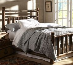 Log Bed & Headboard | Pottery Barn