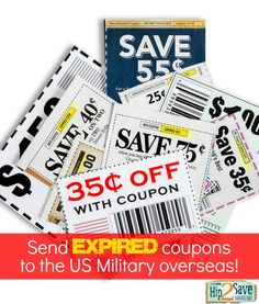 US military families stationed overseas can use coupons on base for up to 6 months after the manufacturer's expiration date. by Hip2Save (It's Not Your Grandma's Coupon Site!)