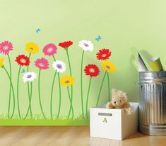 Artistic Flower Wall Mural Design for girls room? Can I do this? :-)