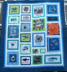 Shark t-shirt quilt by MNbeachgirl 2010