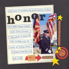Honor - Scrapbook.com