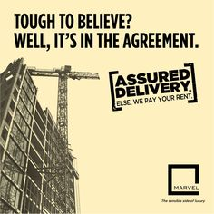 Marvel Realtors, through the Assured Delivery initiative guarantees to deliver your dream home on time. If not, we will pay your rent.‬ For more: http://bit.ly/AssuredDelivery