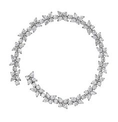 A white diamond necklace from the Tiffany Victoria collection.