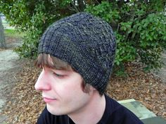 Cable and Cross Hat - free knitting pattern