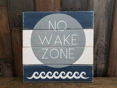 No Wake Zone Sign, Nautical Nursery Decor, Pink Lake House Decor, Baby Girl Room Sign, Distressed Bo Boys Nautical Bedroom, Nautical Theme Nursery, Coastal Nursery, Nautical Signs, Nursery Decor Boy, Nursery Signs, Room Signs, Nursery Themes, Themed Nursery
