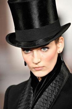Always a good time for a top hat.  Ralph Lauren Fall 2012
