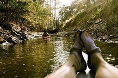 kayaking on small rivers