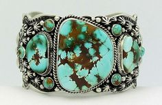 Darryl Becenti Royston Turquoise Sterling Silver Bracelet