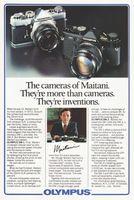 Olympus OM Cameras of Maitani 1981 Ad Picture