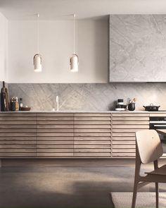 Kitchen Design Open, Contemporary Kitchen Design, Interior Design Kitchen, Modern Kitchen Lighting, Modern Contemporary, Interior Design Minimalist, Kitchen Design Minimalist, Minimalistic Kitchen, Kitchen Modular