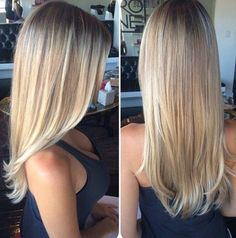 Nothing looks hotter than a straight blonde hair that looks glowing and healthy.
