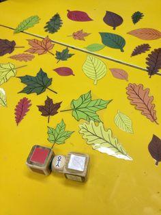 Logispel: grootte-kleur-vorm van het blad. Thema herfst