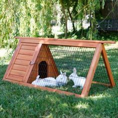 For the roof-- a removable piece that can be taken outside for the bunnies to play in the grass!!!