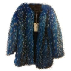 Pre-owned Wanderlust Coat. Style Number 802482 Blue Jacket ($111) ❤ liked on Polyvore featuring outerwear, jackets, blue and blue jackets