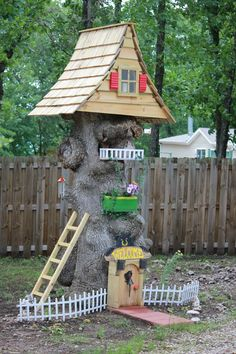 gnome homes made from tree stumps - Google Search