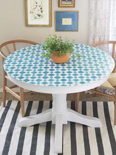 See how simple it is to make this retro-but-so-new mosaic-style table from blogger @Emily Hart {Recently} in #hgtvmagazine http://www.hgtv.com/handmade/how-to-mosaic-style-tabletop/index.html?soc=pinterest