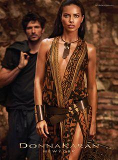 Donna Karan New York Spring 2014 ad campaign starring Adriana Lima shot in Haiti.