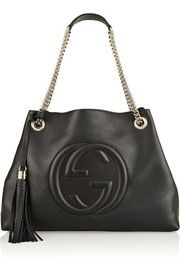 GucciSoho textured-leather shoulder bag