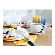 IKEA 365+ Chávena e pires IKEA Em porcelana feldspática, o que torna a chávena resistente a impactos e duradoura.