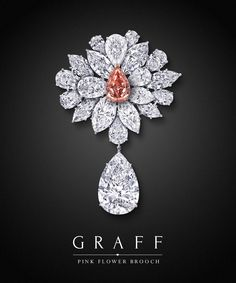 Absolute Perfection Graff Diamonds Pink Flower Brooch ct Fancy Vivid Pink ct d Flawless Pear Marquise & Pears surround Graff Jewelry, Gems Jewelry, High Jewelry, Luxury Jewelry, Diamond Jewelry, Expensive Jewelry, Diamond Brooch, Fantasy Jewelry, Schmuck Design