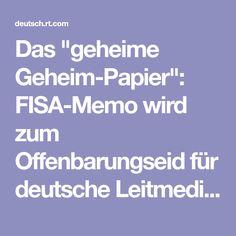 """Das """"geheime Geheim-Papier"""": FISA-Memo wird zum Offenbarungseid für deutsche Leitmedien — RT Deutsch"""