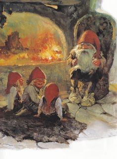Grandfather Nisse Telling A Funny Story - Svein Solem