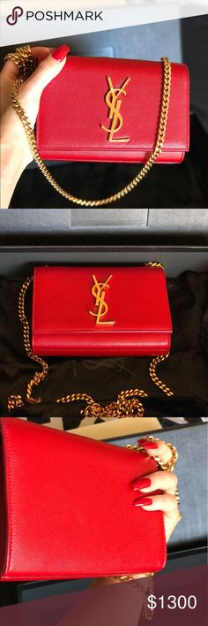 % AUTHENTIC  YSL Clutch Excellent conditions . This is still with Box, Receip ,dust bag and authentic card Yves Saint Laurent Bags Crossbody Bags