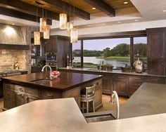 NICE!  I don't think you can ever go wrong with a nice big square island in the kitchen..