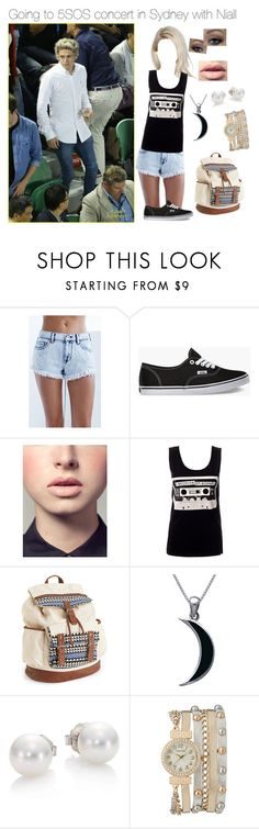 """""""5SOS concert with Niall"""" by one-direction-hazstyles ❤ liked on Polyvore featuring Bullhead Denim Co., Vans, Easy Spirit, Aéropostale, Carolina Glamour Collection, Mikimoto and maurices"""