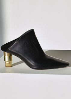 9297342d1 Candle Heel Mule in Shiny Calfskin - December Collection 2015