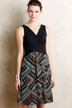 Crossfront Lola Dress-Turquoise #anthropologie