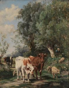 Cow Art | Marie Dieterle, French, 1856-1935