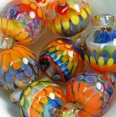 TRIZAS-ORIGINAL Handmade glass lampwork bead - (7) - TOS0139 SRA in Jewelry & Watches, Loose Beads, Lampwork | eBay