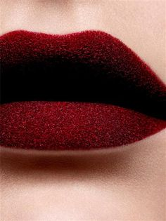 velvety red lip