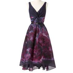 Lela Rose Neiman Marcus Watercolor Dress