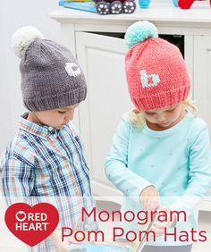 Monogram Pom Pom Hat