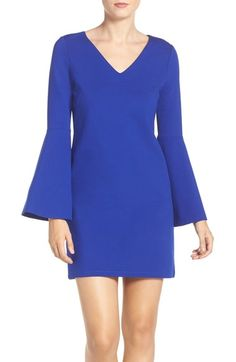 CeCe 'Lizzie' Bell Sleeve Shift Dress available at #Nordstrom