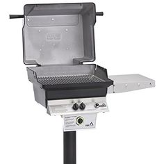 Pgs Tseries T30 Commercial Cast Aluminum Propane Gas Grill With Timer On Inground Post *** Details can be found by clicking on the image.