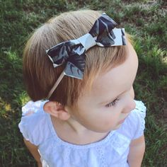 School Girl Bow Ulani with Nylon Band or Hair by EverIrisDesigns