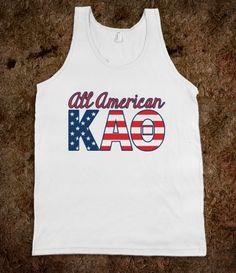 All American Kappa Alpha Theta Tank.... only $23!