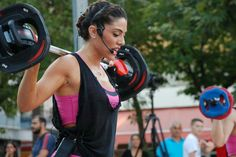 """See 11 tips from 34 visitors to KINESIS-GYM. """"Step time class at with Panagiotis and after one hour TRX training. Trx Training, Bodypump, Four Square, Over Ear Headphones, Gym, Excercise, Gymnastics Room, Gym Room"""