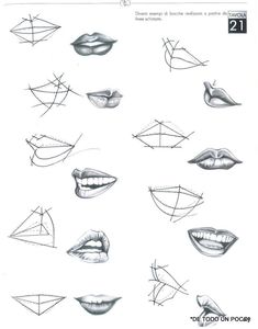 7 Drawing Tips for Beginners Pencil Art Drawings, Art Drawings Sketches, Art Reference Poses, Drawing Reference, Drawing Techniques, Drawing Tips, Drawing Ideas, Drawing Drawing, Lips Sketch