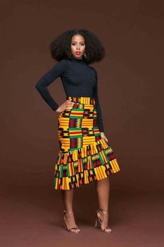In Autumn the leaves drop, in the African Print Ren Pencil Skirt, jaws will. We'll apologise in advance for the envy you're going to generate, not only for wearing the African print Ren Pencil skirt, but for owning it. This piece is set to be the go to pe African Fashion Designers, African Inspired Fashion, African Print Fashion, Africa Fashion, African Print Skirt, African Print Dresses, African Fashion Dresses, African Dress, African Prints